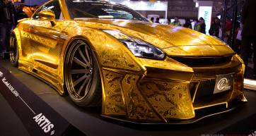 This GTR was a show stopper with its custom gold paint - not decals!
