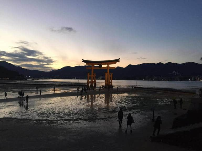 Sunset time at Miyajima Torii is the best you can get for your Instagram