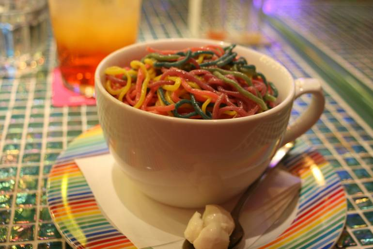Kawaii monster cafe pasta
