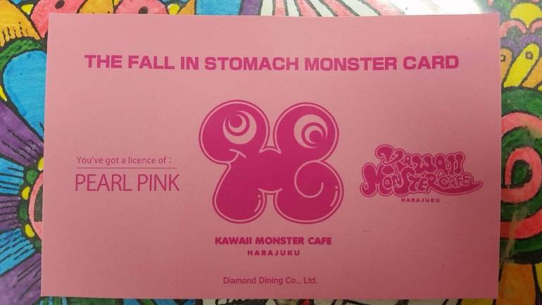 Kawaii monster cafe harajuku card