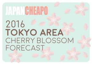 2016 tokyo cherry blossom forecast
