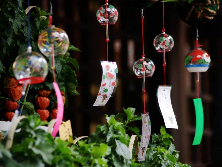 Wind chimes sound the arrival of summer in Japan.
