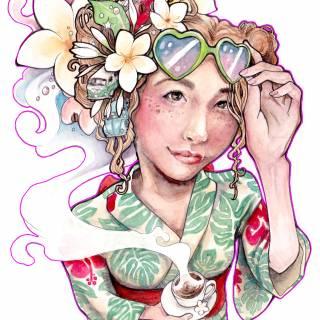 """""""Konomachi-ten: This Town"""" Erica Ward Illustration Exhibition"""