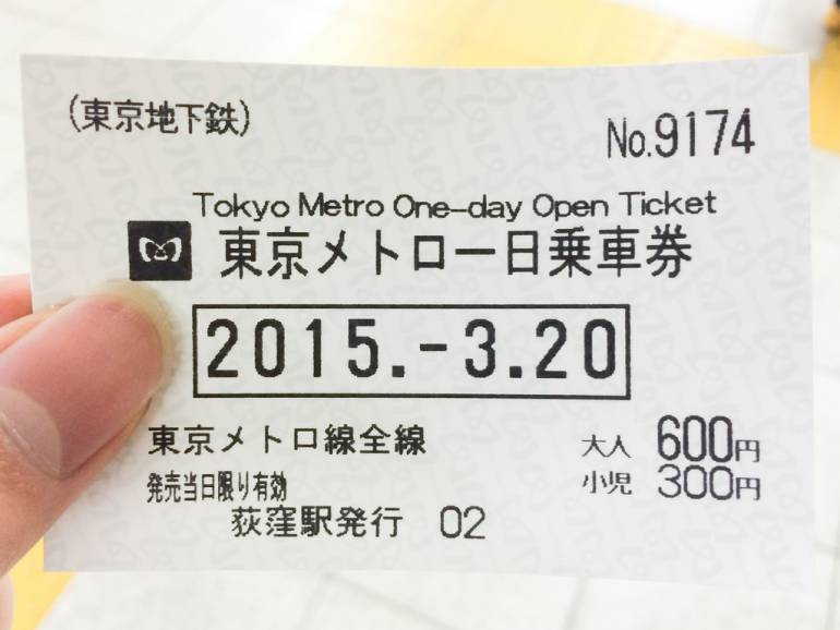 Get a Tokyo Metro 1-Day Pass to save yourself some yens.