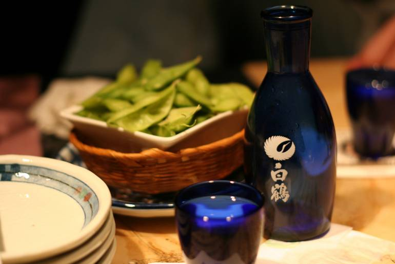 Edamame and Shochu - Cheap Places to Drink in Tokyo