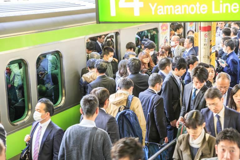 Commuters at Shinjuku Station