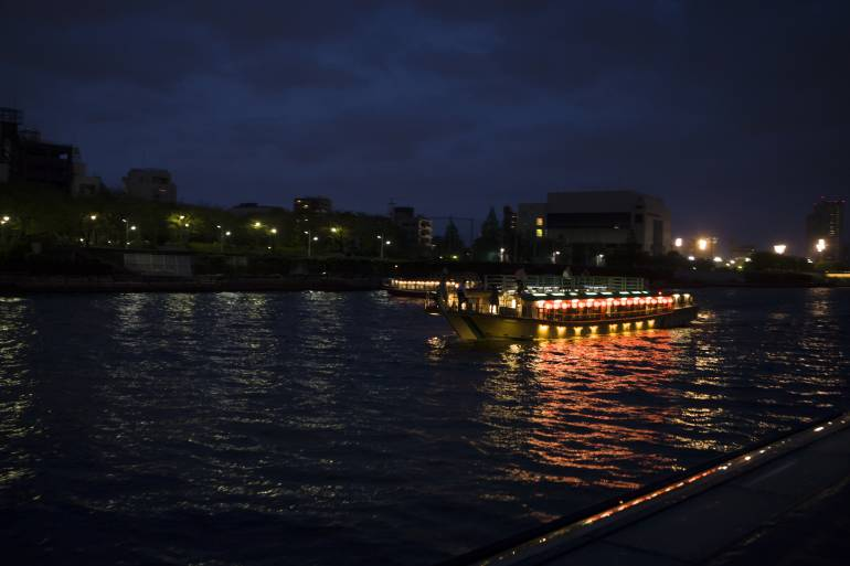 Yalatabune boat cruising the Sumida River