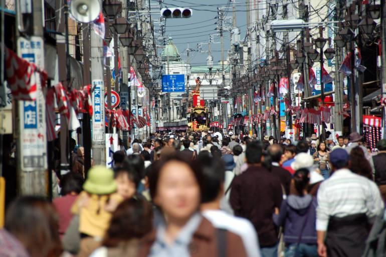 Crowds at Kawagoe Matsuri