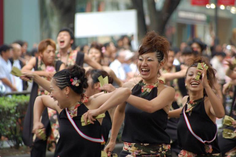 It's a vibrant dance festival.