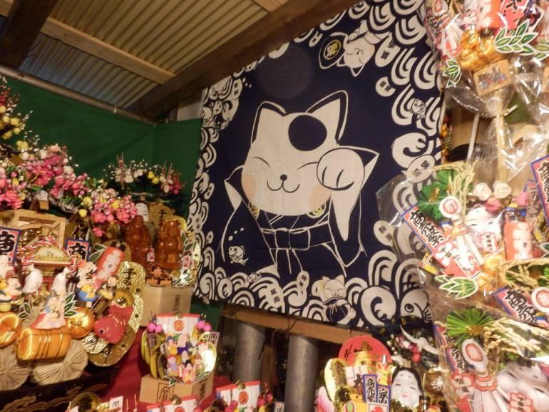Glitter and gold at the Tori-no-Ichi festival.