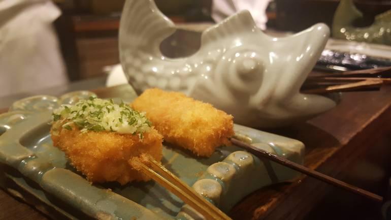 Ginza Isomura deep fried skewer kushiage