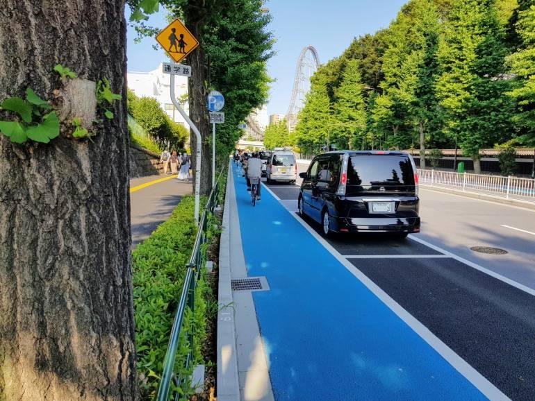 Bunkyo Ward Cycling lane