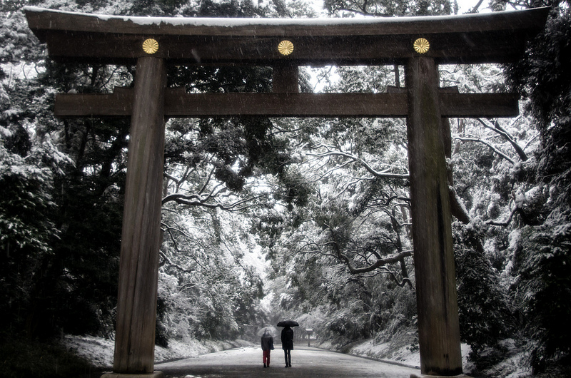 Image result for Meiji Jingu winter