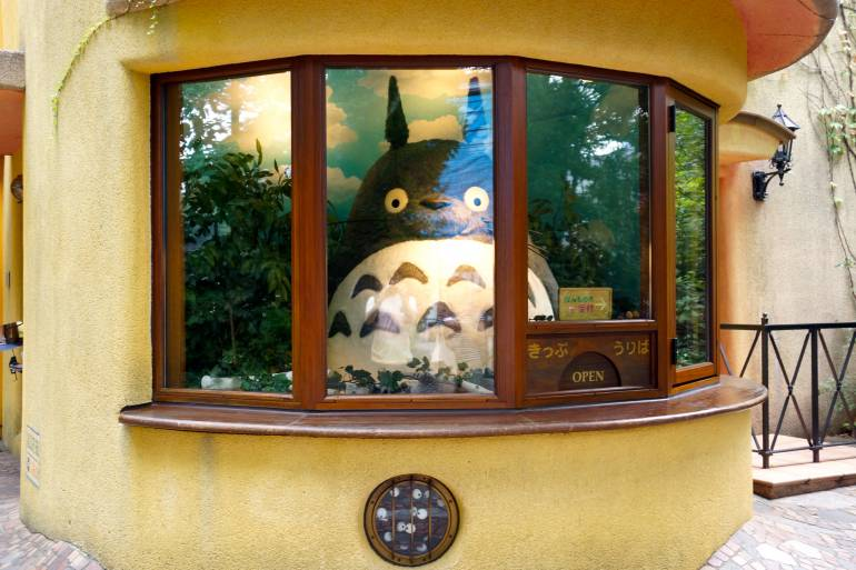 A welcoming Totoro at the Ghibli Museum