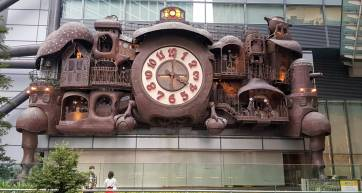 Giant Ghibli Clock at Nippon Television