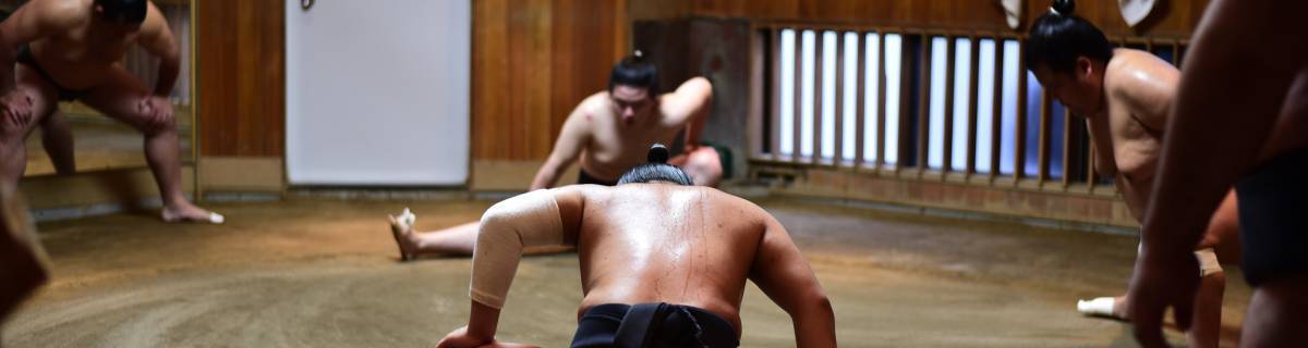 Watch Morning Sumo Training in Tokyo at a Sumo Stable