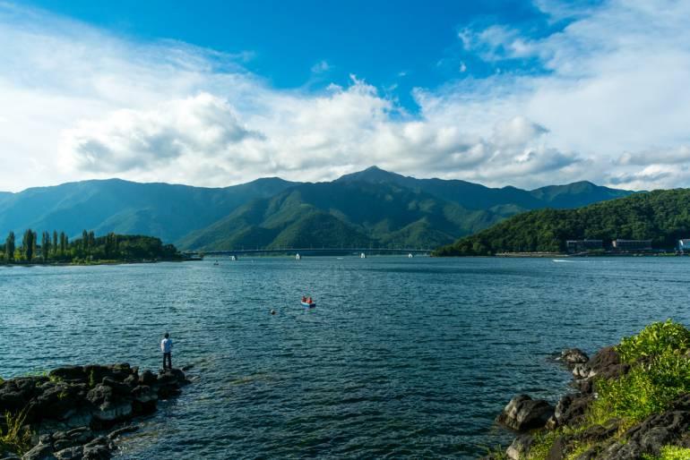 Lake Kawaguchiko in Yamanashi