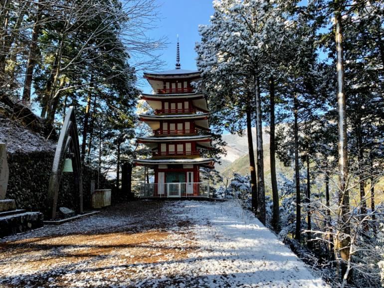 Atago Shrine in Snow