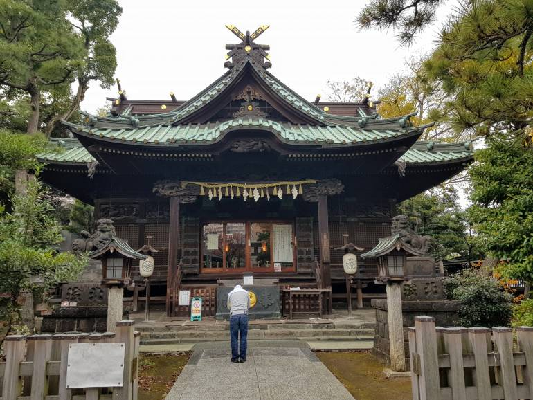 Ebara Shrine main hall
