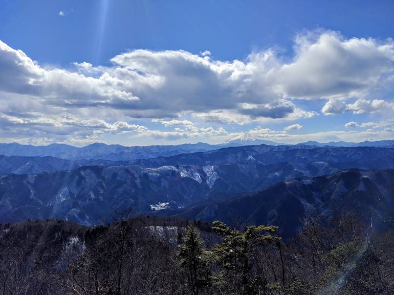 mount fuji view from mount otake