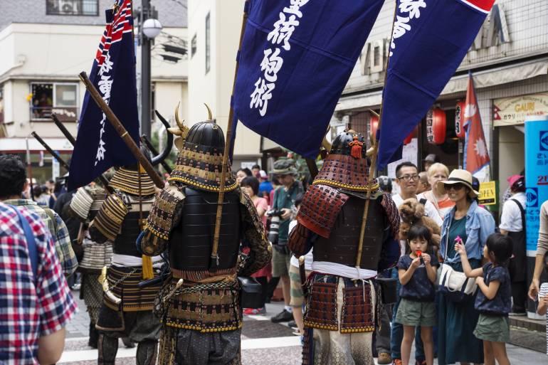 Shinagawa Shukuba Matsuri parade
