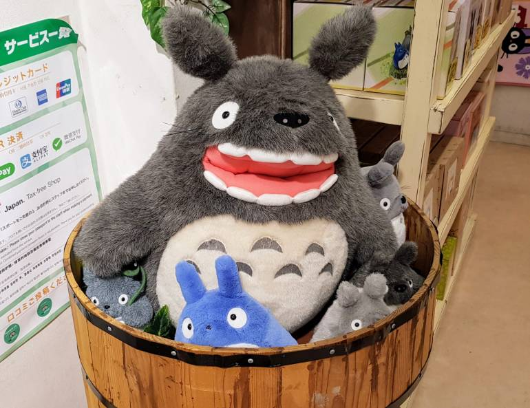 Totoro plushies in a basket