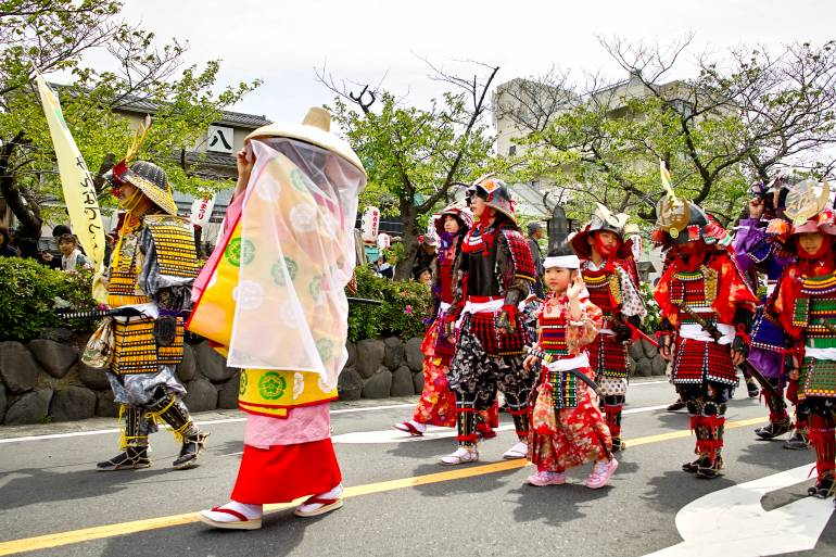 Warrior procession Kamakura Matsuri Festival