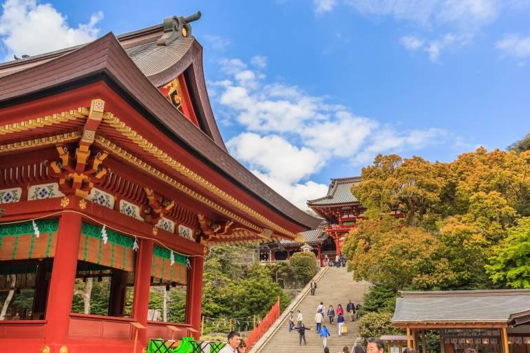 Tsurugaoka Hachimangu Shrine in Kamakura
