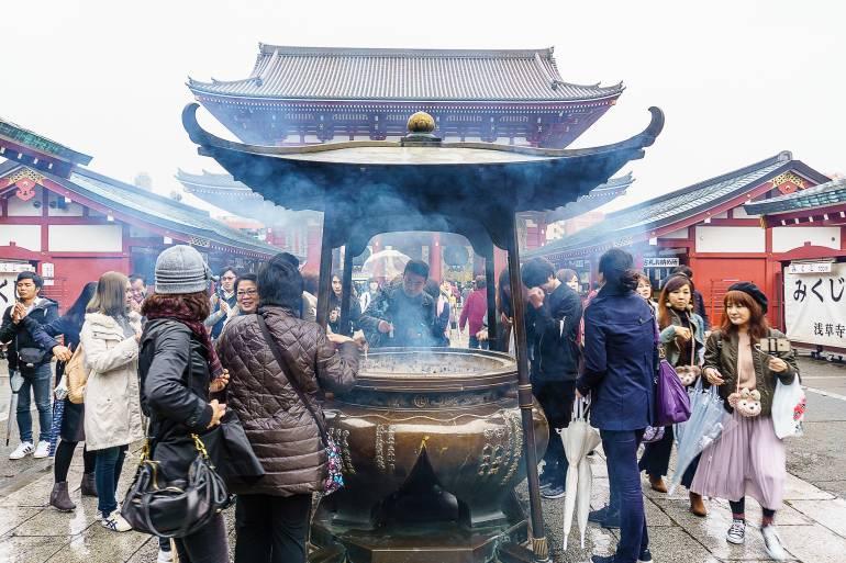 Incense smoke at Sensoji