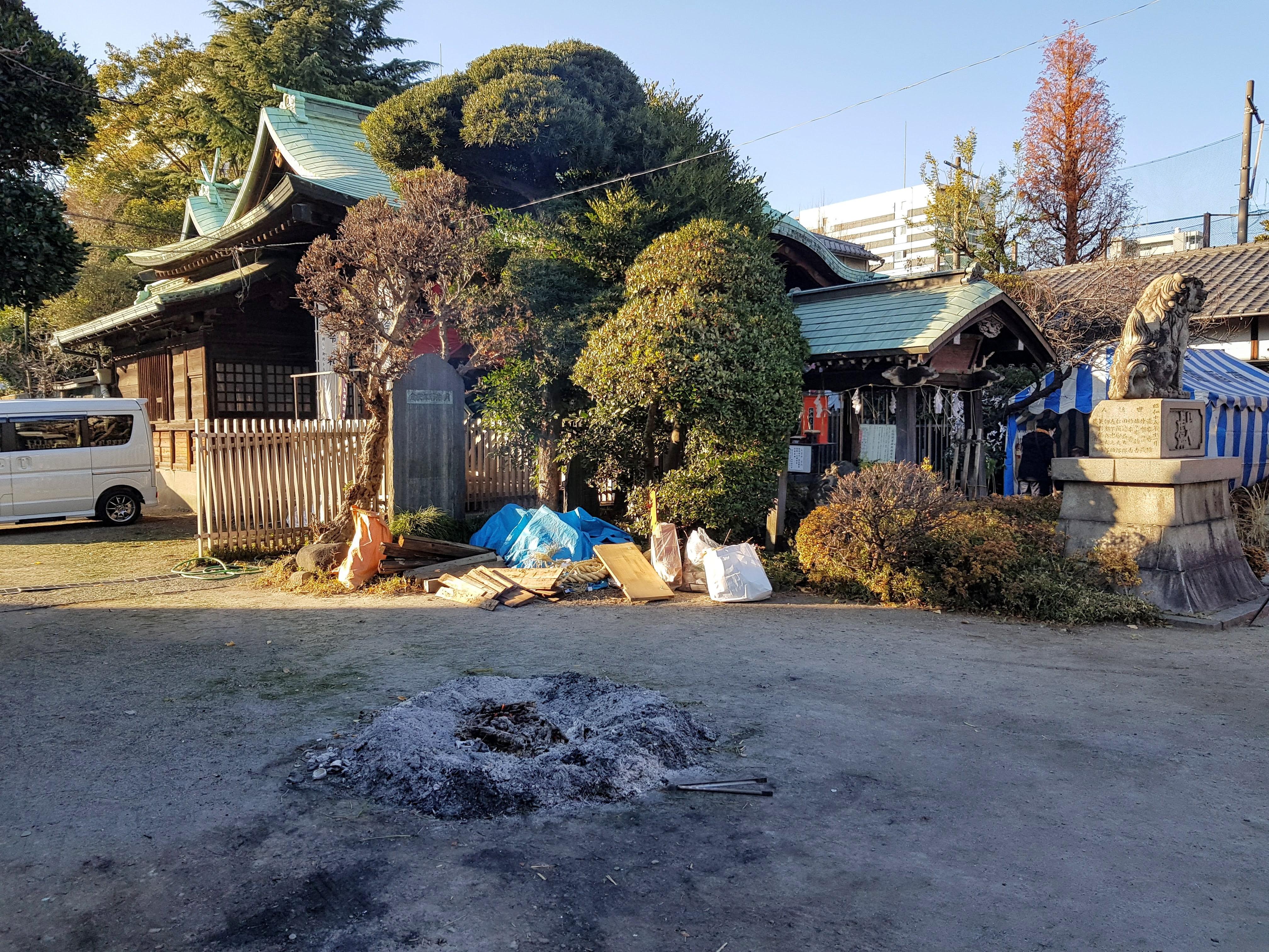 Tamahime Shrine fire