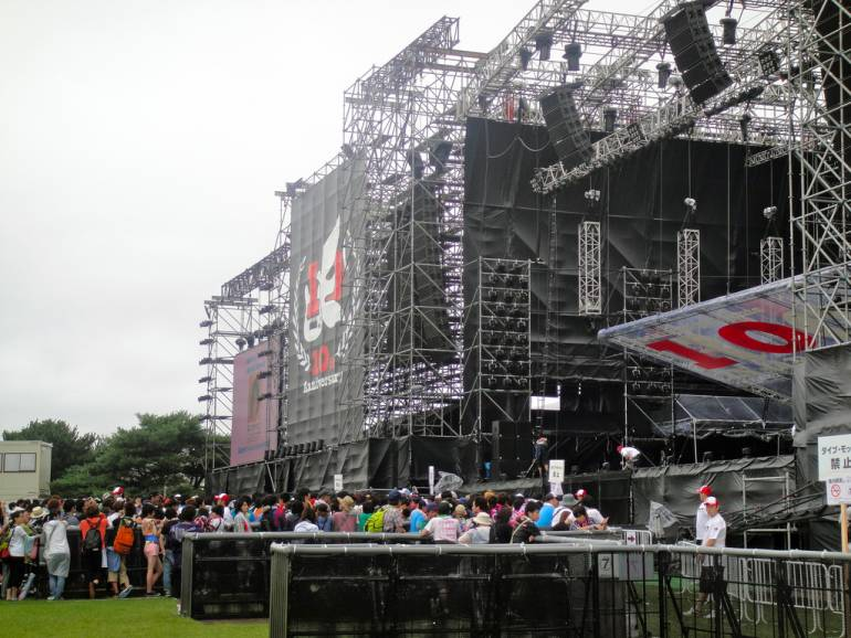 Rock in Japan festival stage