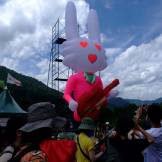 Bunny guitarist waits for people to come from Tokyo Fuji Rock
