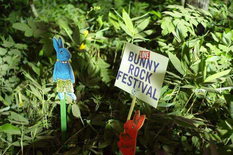 Bunny Rock Festival signs