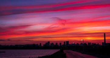 summer tokyo sunset
