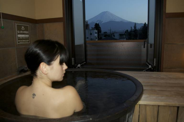 Private onsen for Tokyo honeymoon