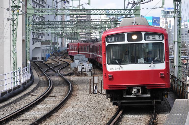 Keikyu 800 Series at Shinagawa Station