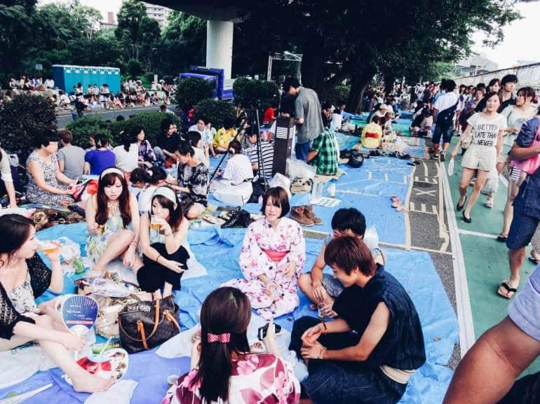Crowds at Sumidagawa Fireworks Festival