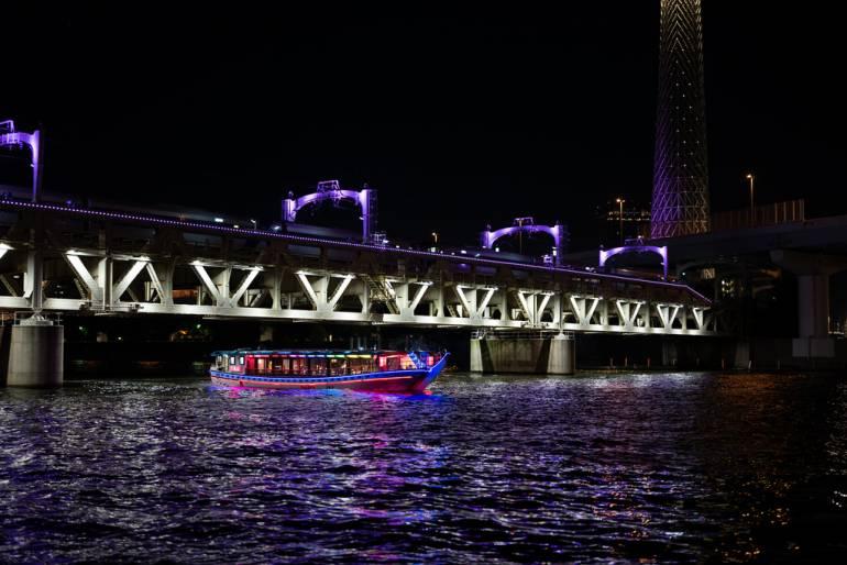 tokyo bay cruise at night