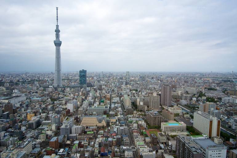 Tokyo Skytree and surrounds
