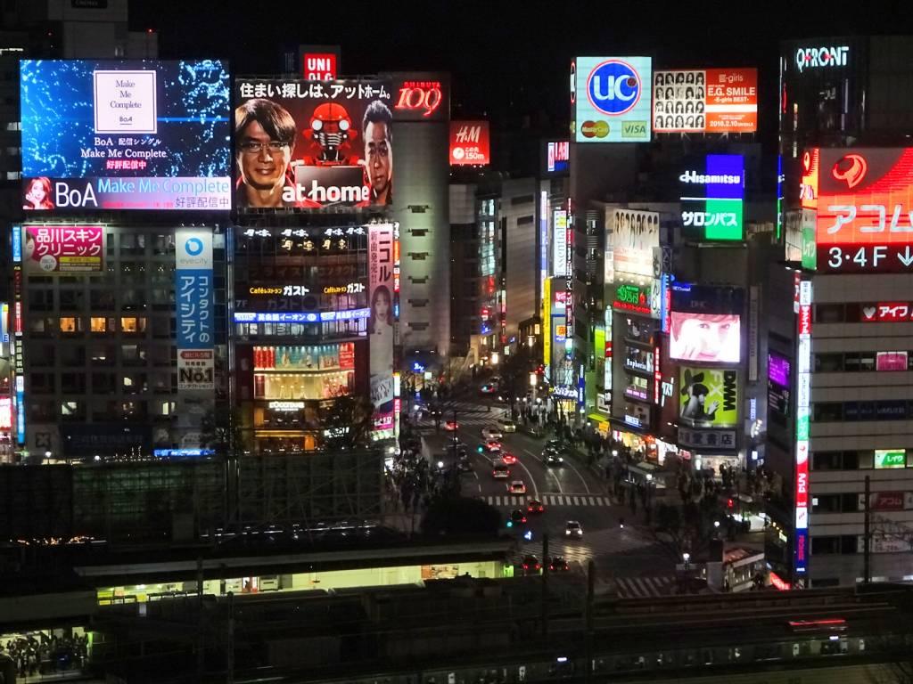 tokyo night walking tour Shibuya Hikarie View