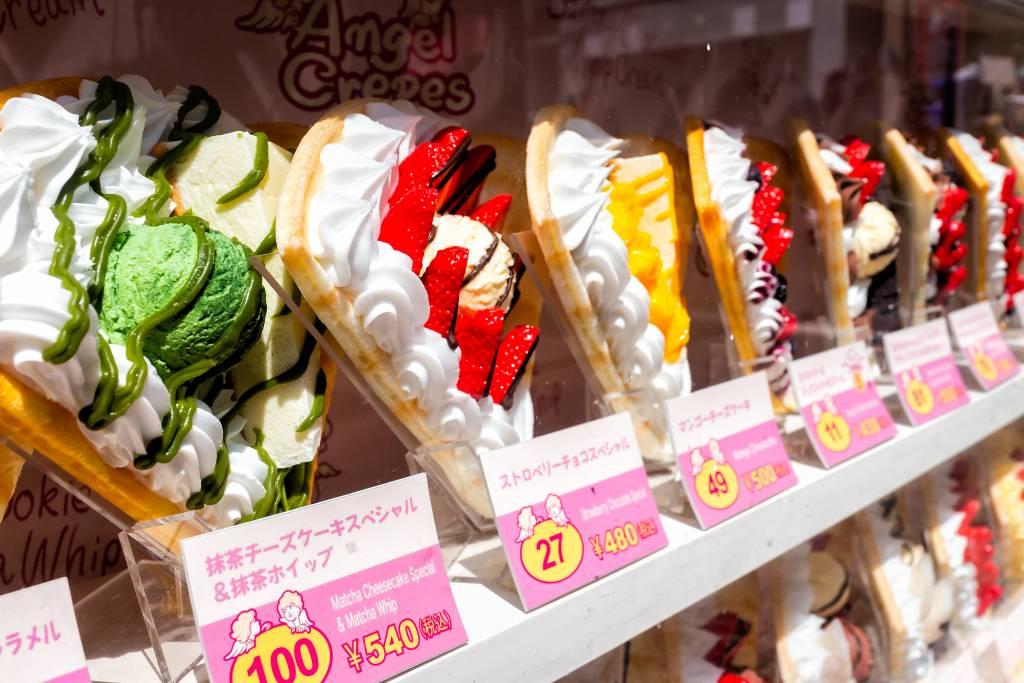 Crepes at Takeshita Harajuku