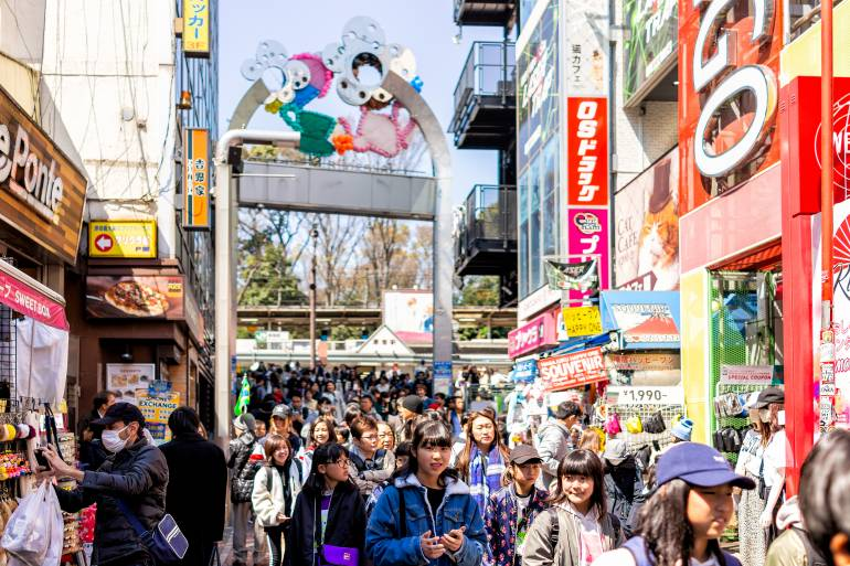 Crowds at Takeshitadori Harajuku