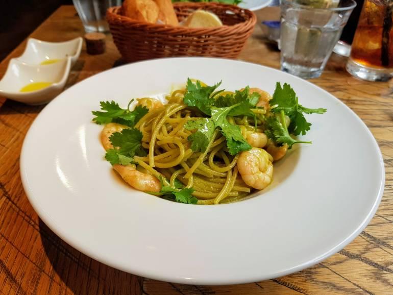 Shrimp spaghetti