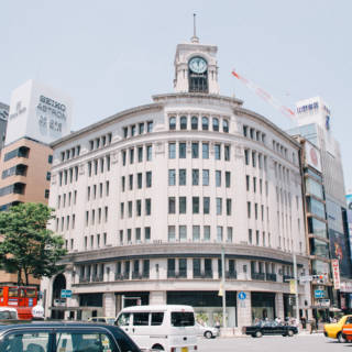 Ginza Wako Department Store and Hattori Clock Tower