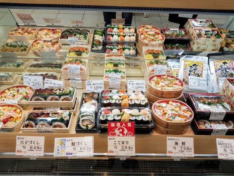 Sushi at Matsuya Ginza Department Store