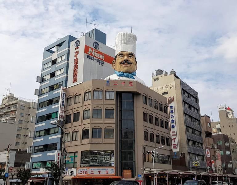 Kappabashi giant chef head
