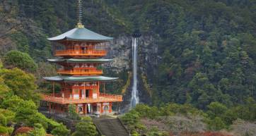 Pagoda and Nachi Falls, Wakayama Prefecture, Japan