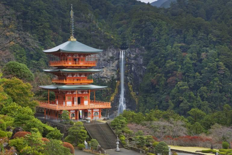 Pagoda and Nachi Falls, Wakayama Prefecture, Japan