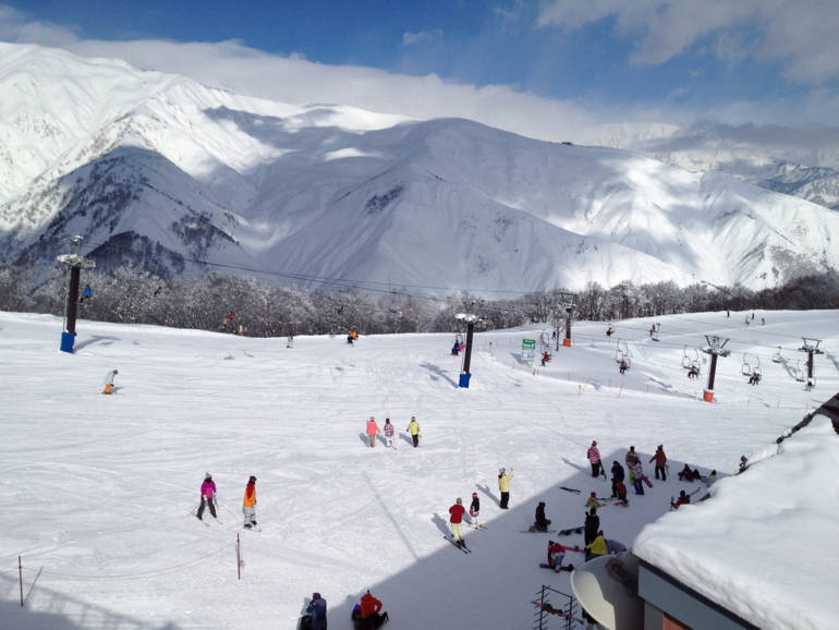 view of snow field at Hakuba ski resorts, Japan