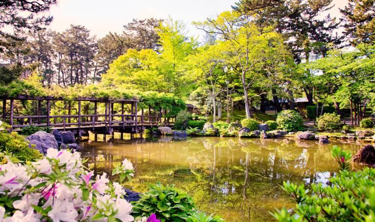 Hakusan Park in Niigata